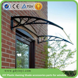 Windows awning,DIY Plastic polycarbonat Awning Shade accessories parts for window and canopy