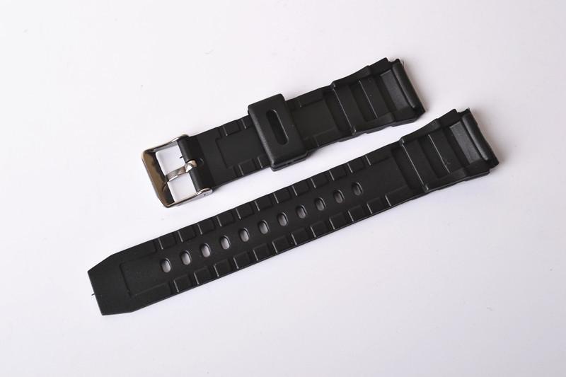 Прибытия без метки ремни в течение нескольких часов 14 / 16 / 18 / 20 / 22 мм черный резина кремний булавка пряжка часовой браслет