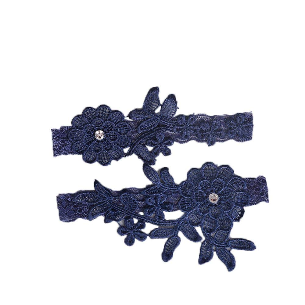 a42e6ecfffd Get Quotations · IVERIRMIN Lace Wedding Garters For Bride