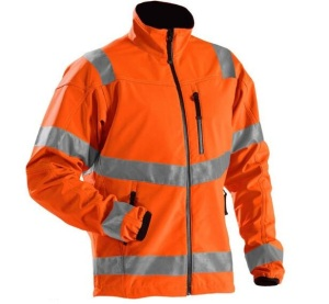 High Visibility Work wear Waterproof Breathable Men uniform fleece softshell jacket
