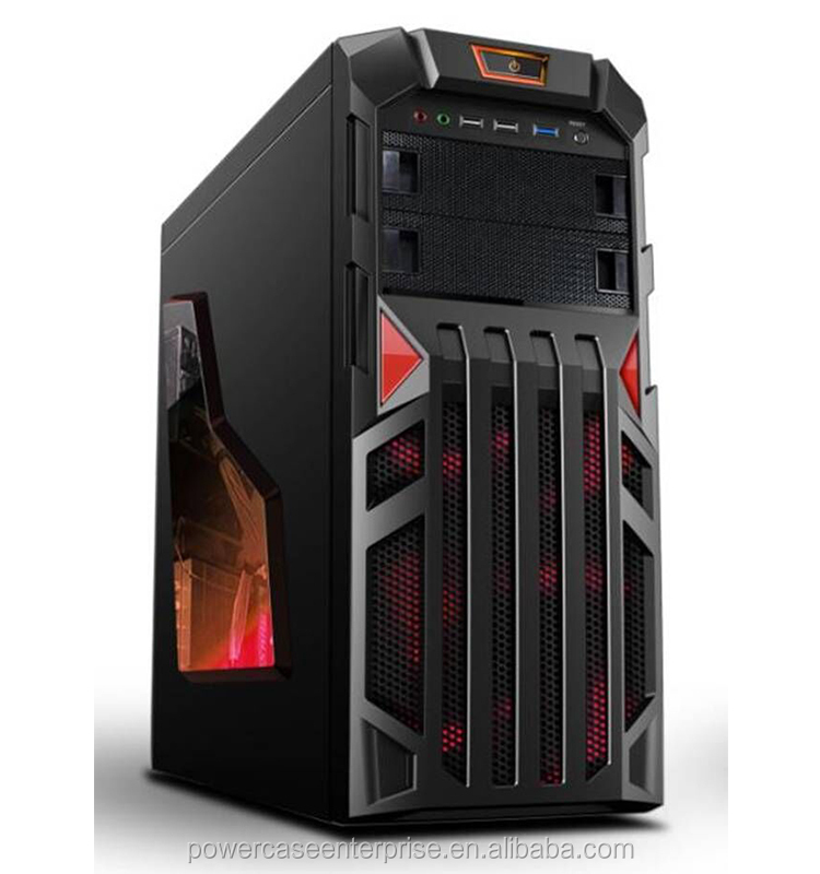 ATX glass computer case for gaming