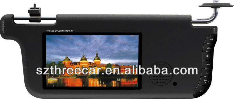 "7"" Sun Visor TFT-LCD Monitor with TV Function"