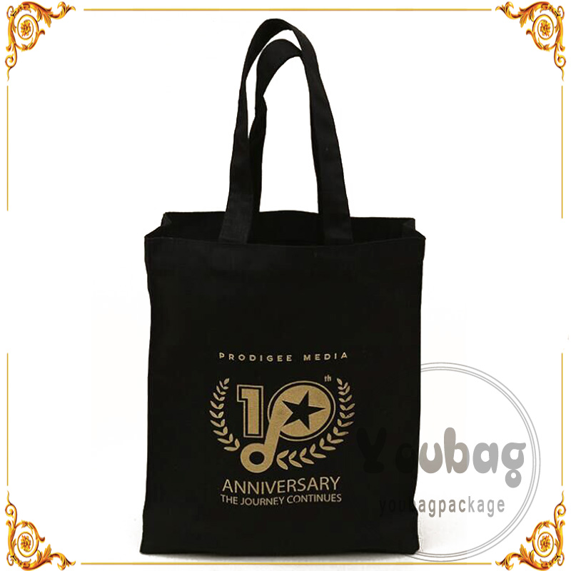 Hot sale machine made organic printed cotton bag With Logo Print