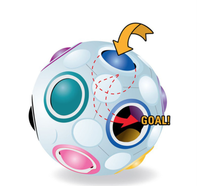 Magical ball Kid Educational round fidget Toy Rainbow football Magic Cube