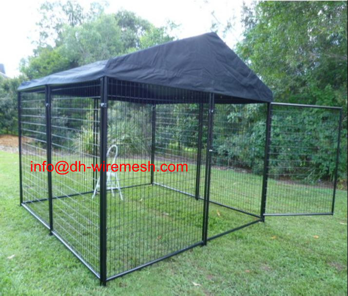 Outdoor Large Cheap Dog Run Kennel With Cover China