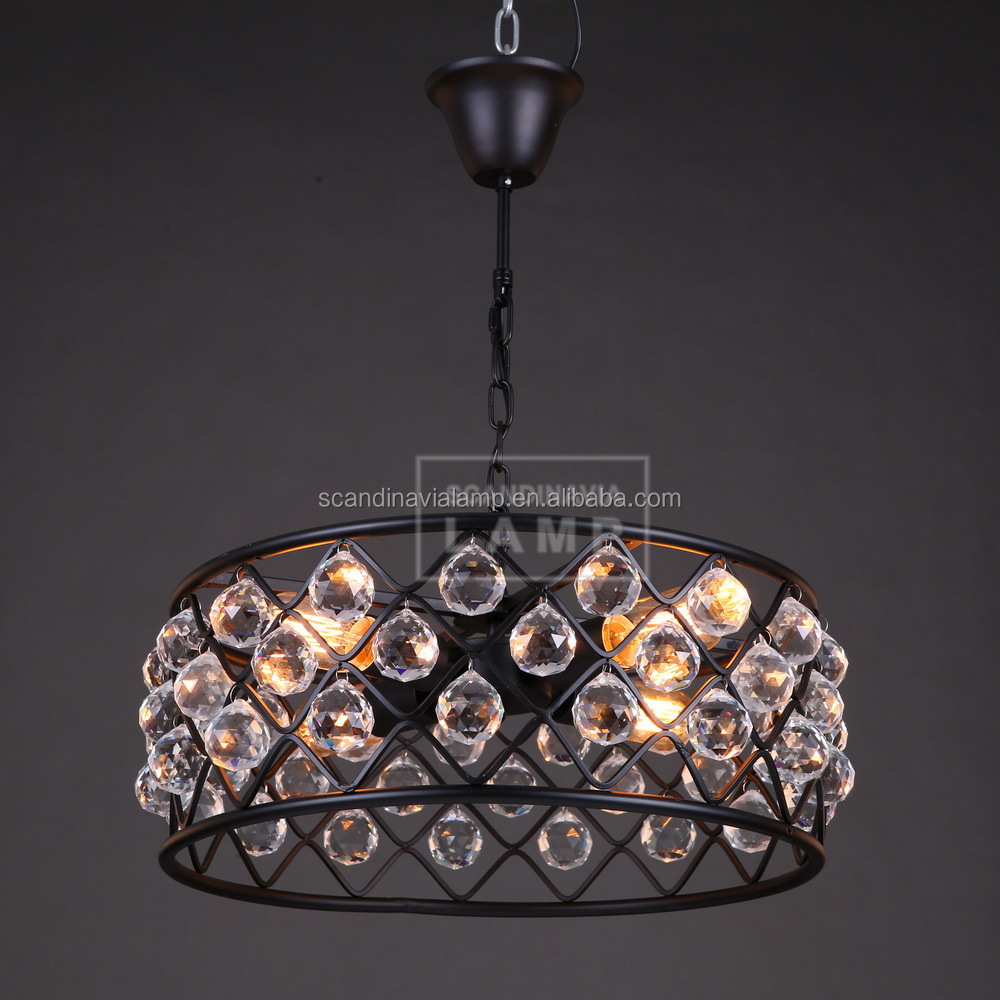 Premium Quality Filament Pendant Light Acrylic Crystal Beads ...