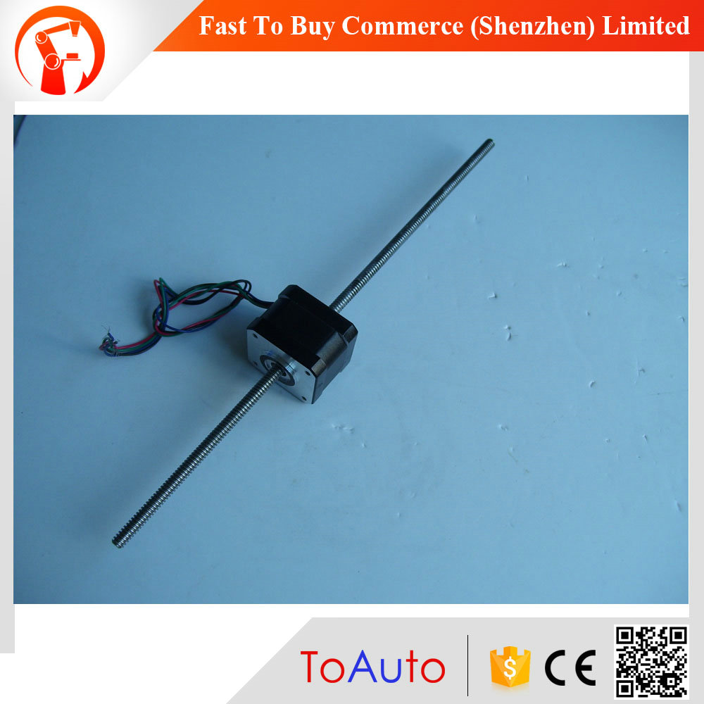 42HZ3115M6B2 L310mm 1.5A 0.22NM D=6.35mm cheap china nema 17 leadscrew linear stepper motor
