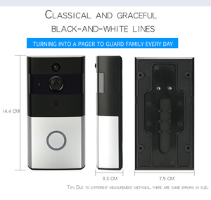 WiFi remote wireless doorbell High quality safety smart digital LCD display with camera long life PIR doorbell