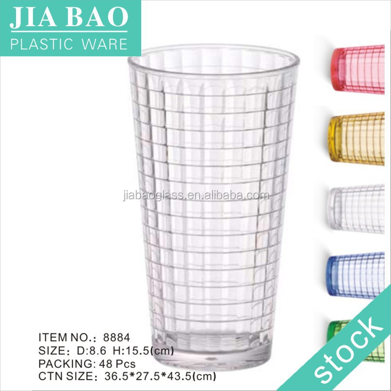 stocked disposable PC beer cups,american plastic cup, polycarbonate beer cup 8884