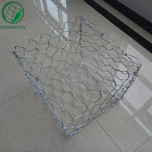 Galvanixzed garden decoration 2 * 1 * 0.5m 4mm welded gabion wire mesh box