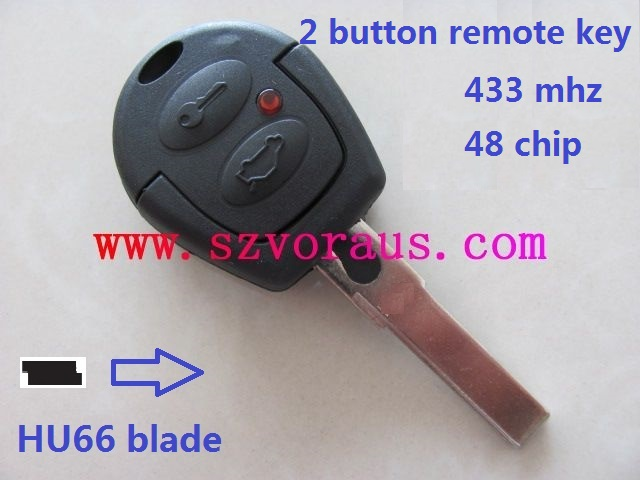 V Gof 2 button remote key with 433mhz and ID48 chip , remote key