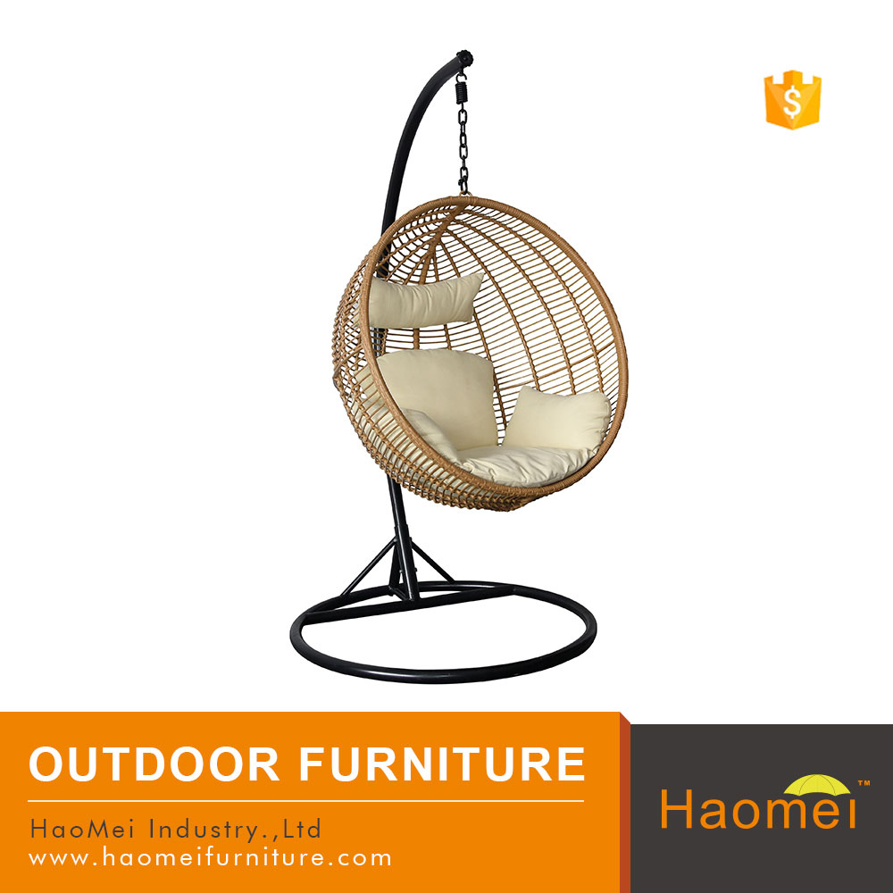 Bubble chairs for under 100 dollars - Light Brown Hanging Pe Rattan Bubble Chair With Stand For Sale