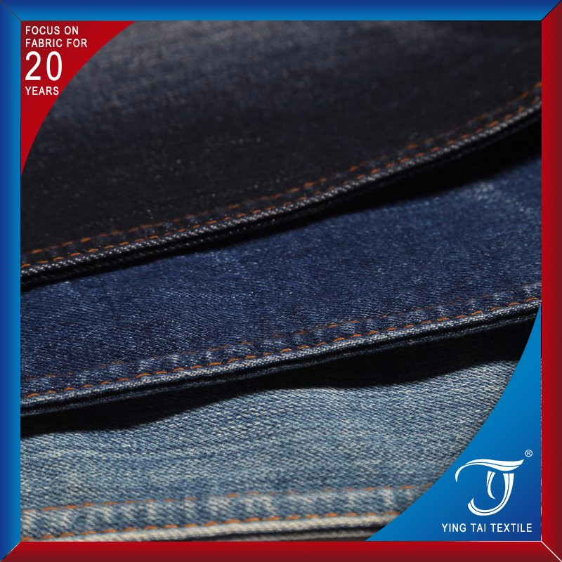10*200/40 hotsale 70 cotton 28 polyester 2 spandex yarn dyed woven denim fabric