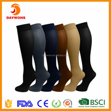 High Quality Miracle Unisex Core-Spun Support Socks Knee High Graduated Compression Socks For Women and Men