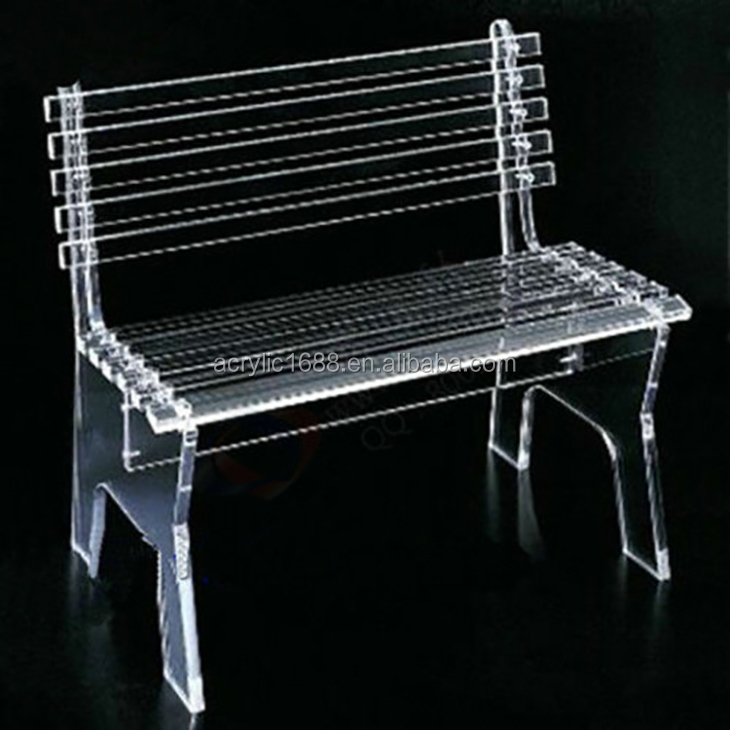 High quality rectangle acrylic chair with back