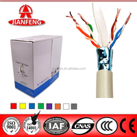 2016 Zhejiang Jianfeng UTP Cat6 Lan cable with easy pull box packing