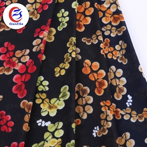 keqiao china textile city chiffon dacron georgette bingo print fabric pictures for saree
