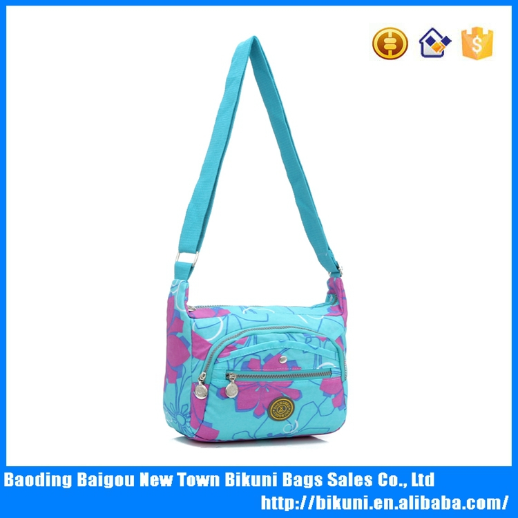 2015 Special designers colorful cotton print nylon <strong>shoulder</strong> for ladies Messenger Bags China For Teenage