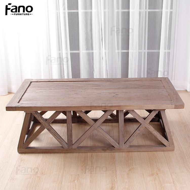 Salotto Tavolino Disegno Unico Di Legno Tavolino Di Recupero Di ...