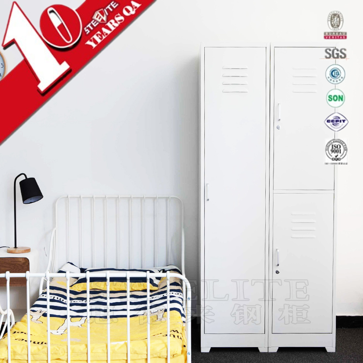 Top Sale Colorful Two Doors 2 Tires Shaped cloth Lockers for Hotel