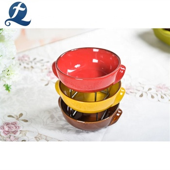 Customized Logo Glazed Small Casserole Ceramic China Cookware