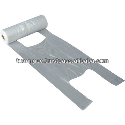 T-shirt bag on roll for food, safe using for food, competitive price/ Plastic bag