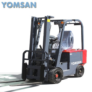 1500kg electric powered four wheels forklift out door lift car