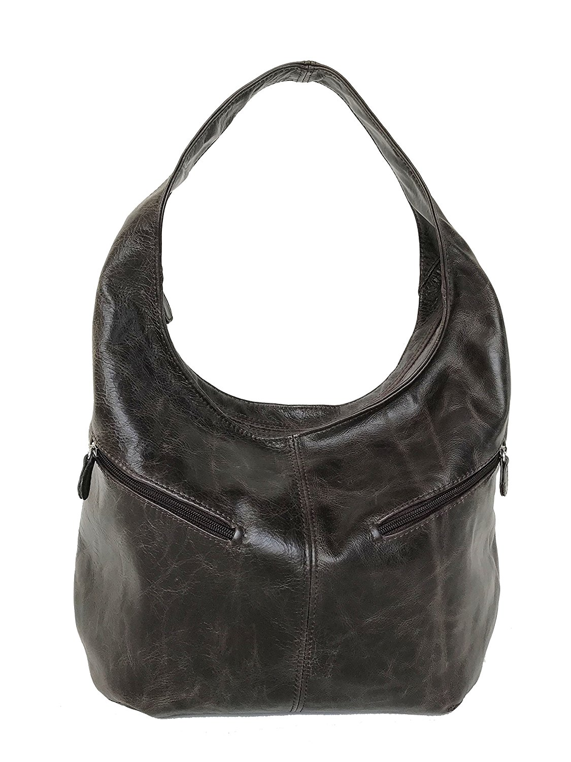 8712674b0c Get Quotations · Fgalaze Distressed Wash Leather Hobo Purse w Pockets