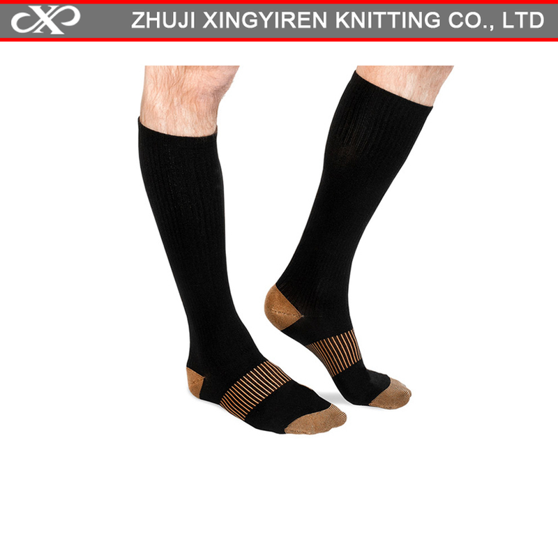 XYR-0924- C copper antibacterial socks miracle copper socks