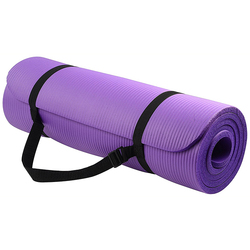 Custom Print Private Label Eco Friendly Foldable Organic Rubber Nbr Yoga Mat with Carrying Strap