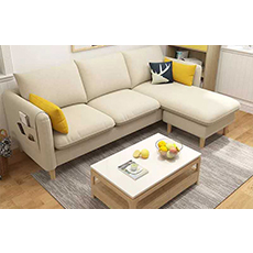 Modern leather sectional sofa apartment leather sofa set living room furniture