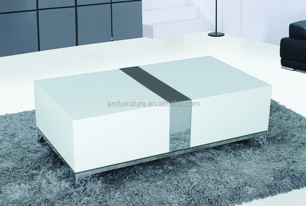 e 1 mdf high gloss white table top and stainless steel legs