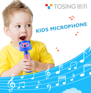 Tosing11 Lovely Kids Wireless Karaoke Toy Microphone For Singing Playing Music Buidl in English Story