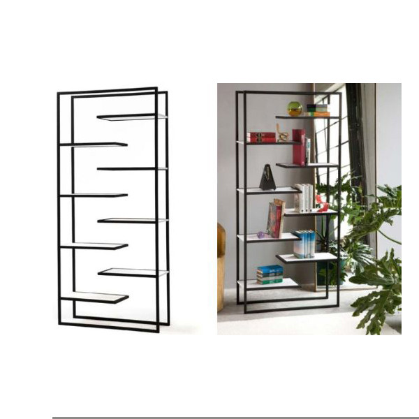 bookcases products gry us df high group metal prpd bookshelf furniture low global