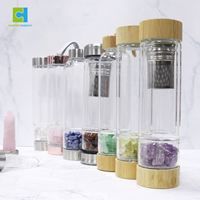 Latest product 2019 Crystal Gem Glass Water Bottle