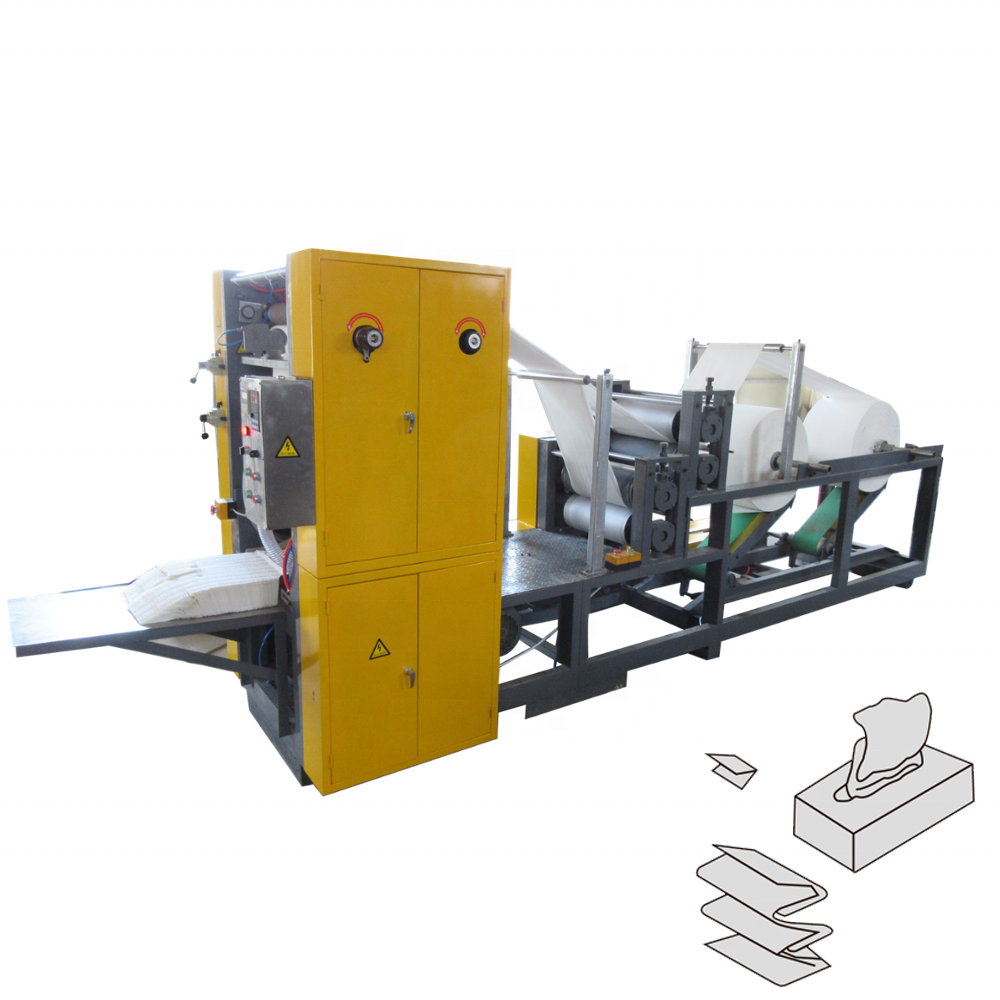 Full automatic tissue paper facial packet machine folding type