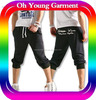 Custom High Quality Spandex Cotton Man Capri Pants Man Loose Trousers Sports Pants Trousers For Boy