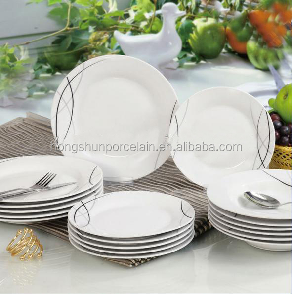 18pcs ceramic dinnerset with nice printing for home