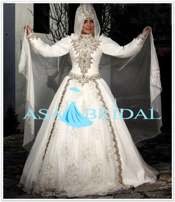 Turkse Bruidsjurken.Plus Size Trouwjurk Suzhou Zware Kralen Arabische Gelinlik Turkse