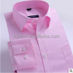 Pink dress white buttons polo collar bespoke shirt for men OEM