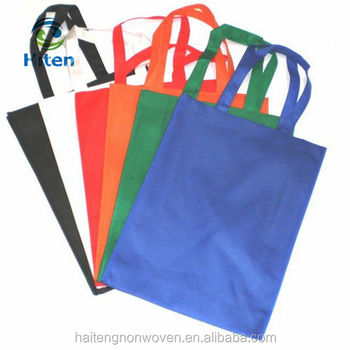 Cheap environment friendly hand length handle disposable nonwoven cloth bag