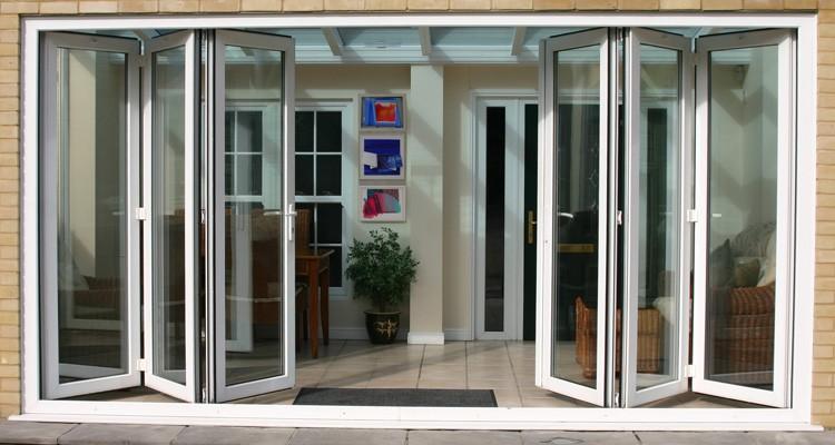 Inward Outward Opening Aluminium Alloy Exterior Glass Folding Door Buy Exterior Glass Folding
