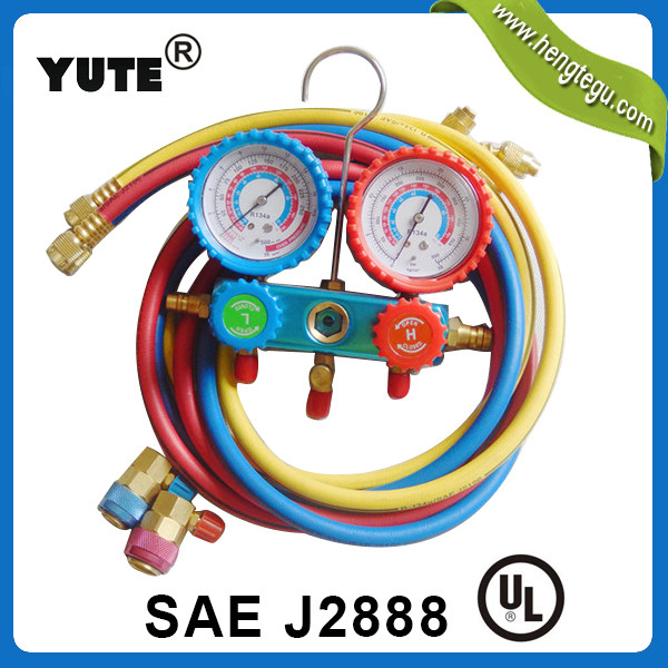 manifold gauge set r134a ac 5ft charging hoses in rubber hoses