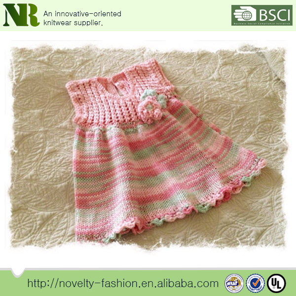 Baby Girls Knitted Dress Handmade Knit Sweater Designs Sleeveless