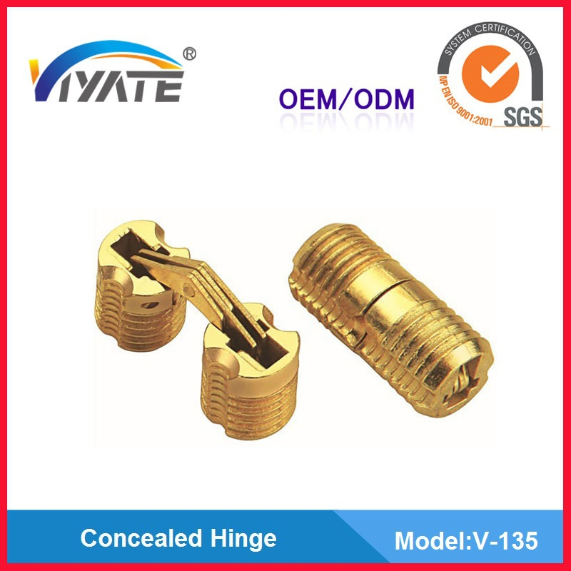 12 mm gold plated zinc alloy concealed hinge