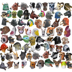 100% Natural latex animal Deluxe design halloween party Adult mask masquerade Realistic Animal 3D rubber masks