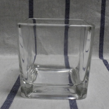 clear glass gel deodorant container
