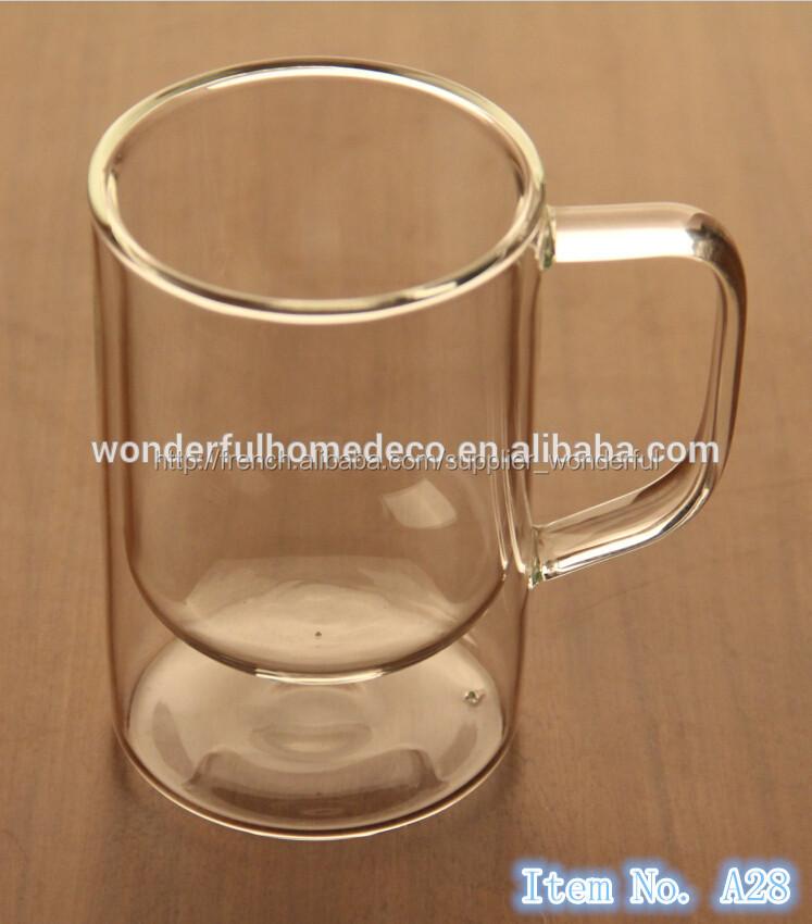 9 oz clear double paroi en verre tasse de th isol s tasse caf en verre clair double paroi. Black Bedroom Furniture Sets. Home Design Ideas