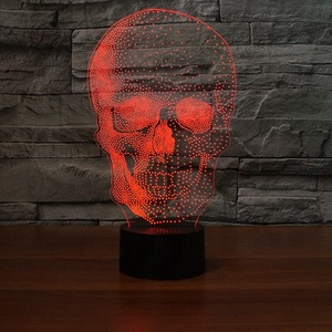 FS-4524 3d lamp custom 3d led night lamp cool skull 3d table lamp
