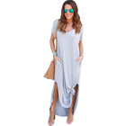 Summer Muslim Casual Clothes Women Clothing Ladies Long T shirt Dress